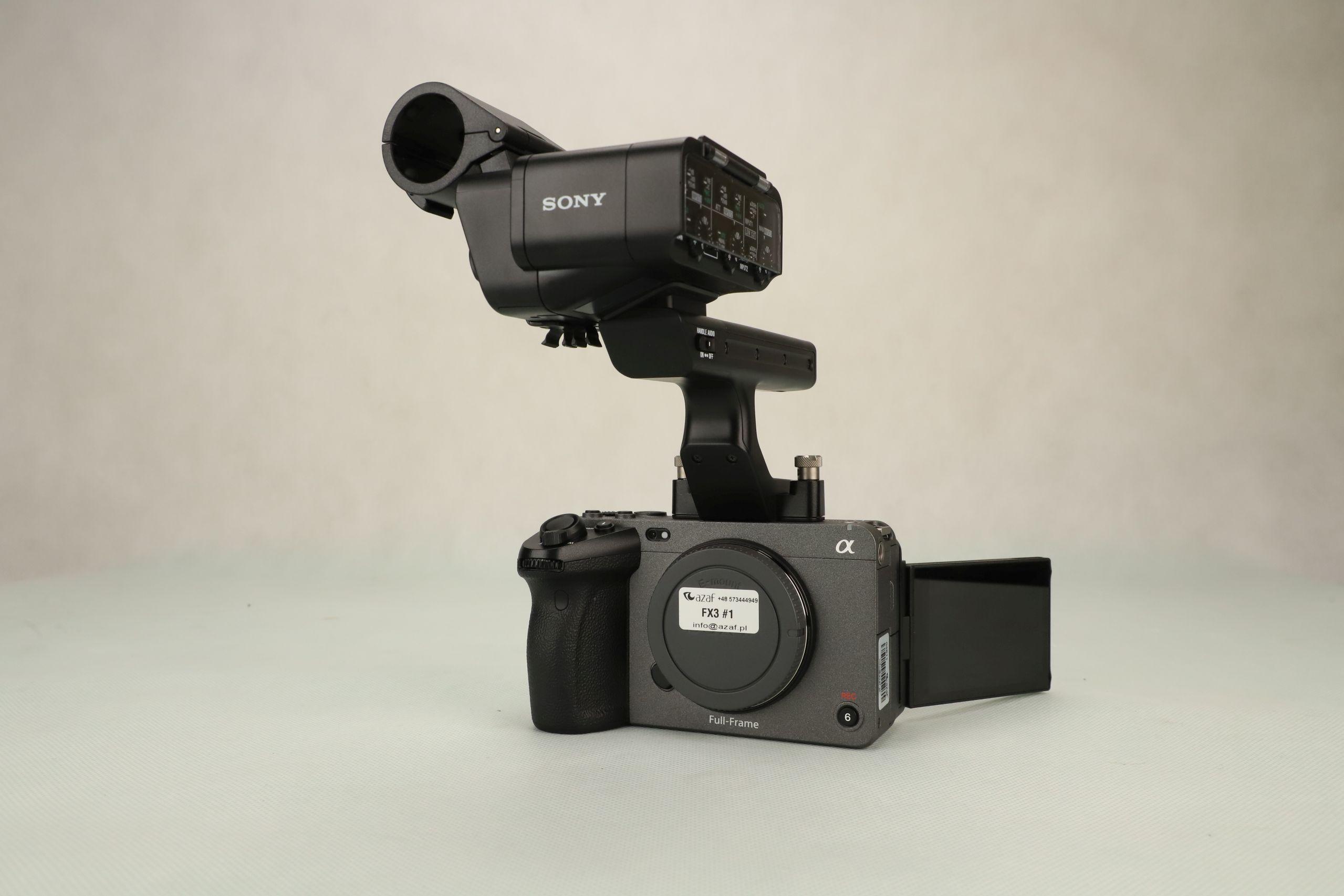Sony FX3 + uchwyt z adapterem XLR
